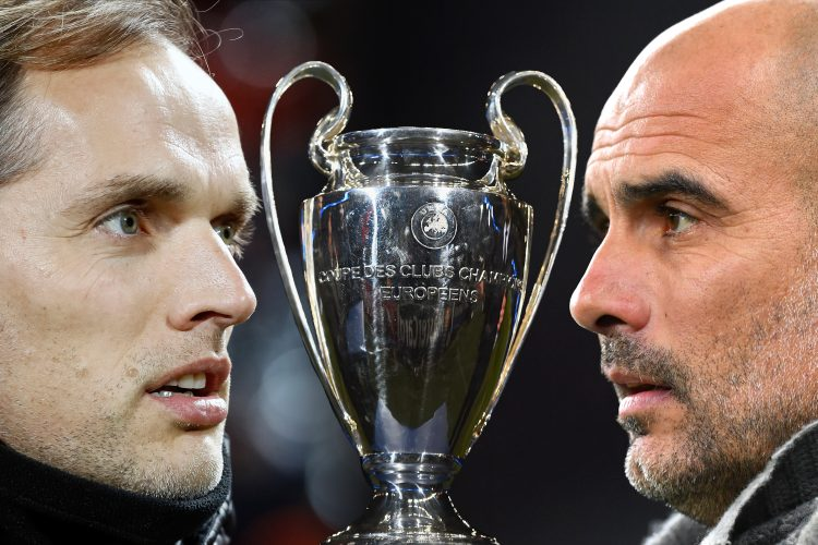 Gvardiola Tuhel Thomas Tuchel, Manager of Chelsea (L) and Josep Guardiola, Manager of Manchester City